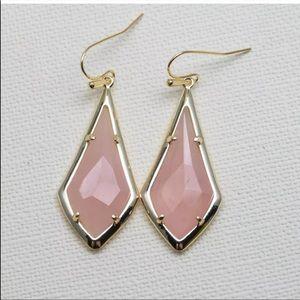 Kendra Scott Rose Quartz Olivia Drop Earrings NWT